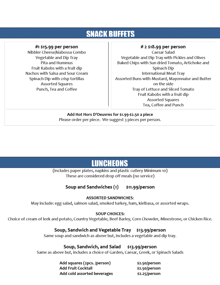 Business Lunch Catering Menu p.5