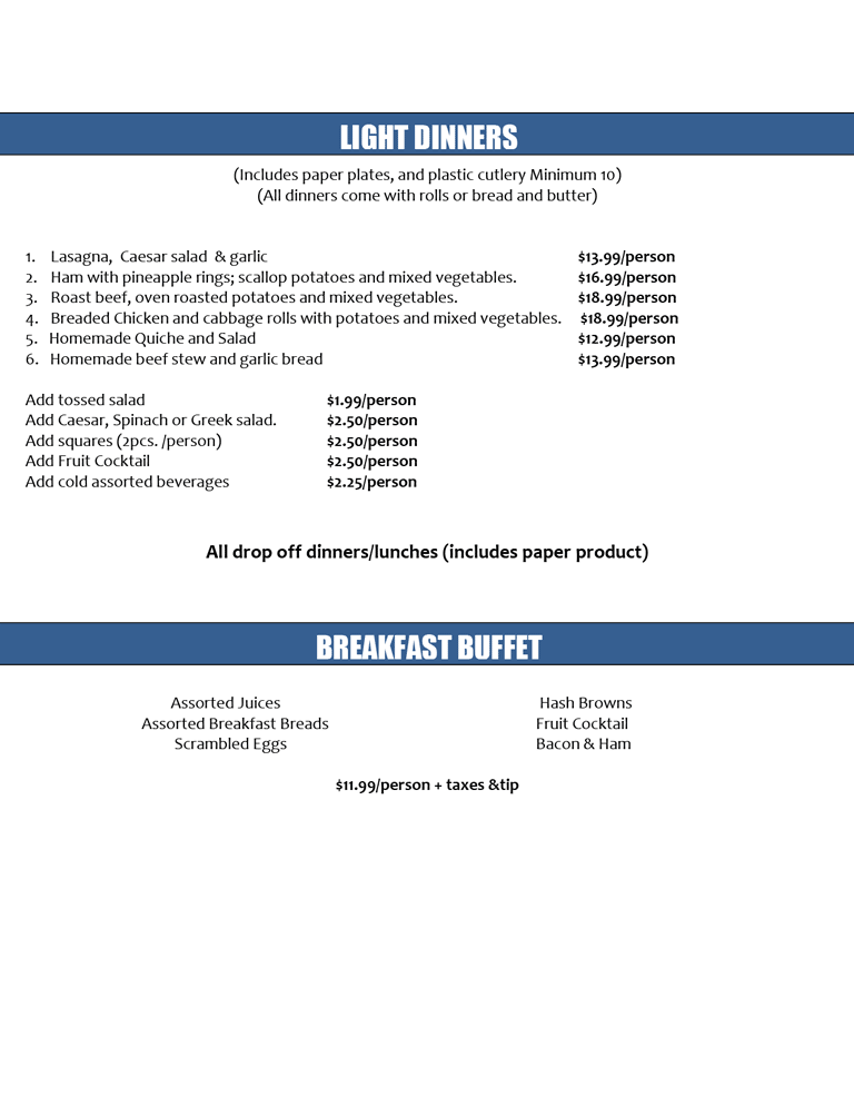 Business Lunch Catering Menu p.6